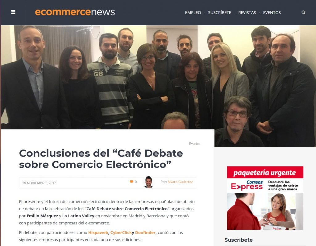 conclusiones debates: la latina valley Conclusiones Debates: La Latina Valley FireShot Capture 908 Conclusiones del    Caf   Debate sobre C  http   ecommerce news