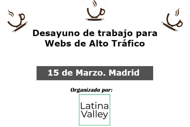 15 de marzo 2018. Debate Webs Alto Tráfico en Madrid altotraficomadrid