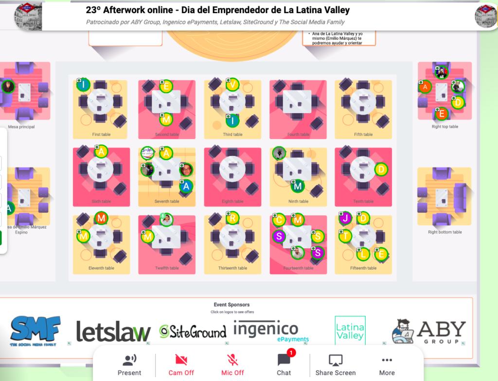 23º Afterwork online «Día del emprendimiento» de La Latina Valley Captura de pantalla 2020 04 16 a las 14
