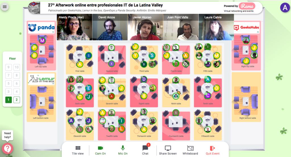 10 Junio 2020: 27º Afterwork online entre profesionales IT Captura de pantalla 2020 06 10 a las 17