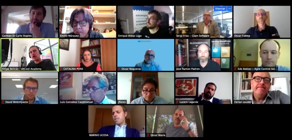 [object object] 57º Debate online entre CEOs de Argentina, Chile, Colombia, España y México Captura de pantalla 2020 07 01 a las 17