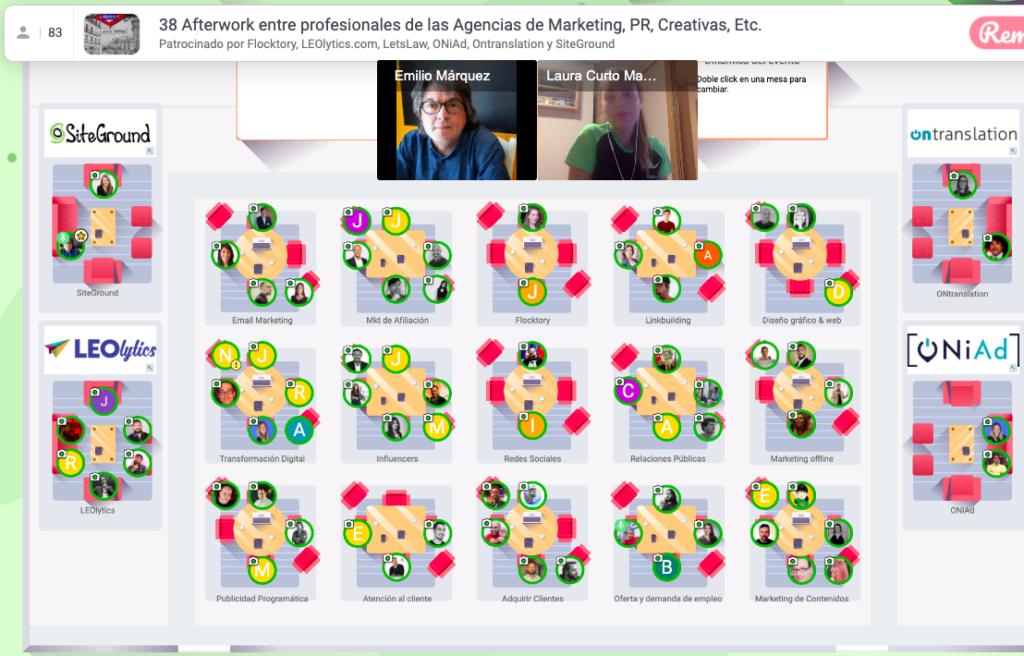 4 Noviembre 2020: 38º Afterwork online entre Agencias de marketing y PR de España y LATAM Captura de pantalla 2020 11 04 a las 18