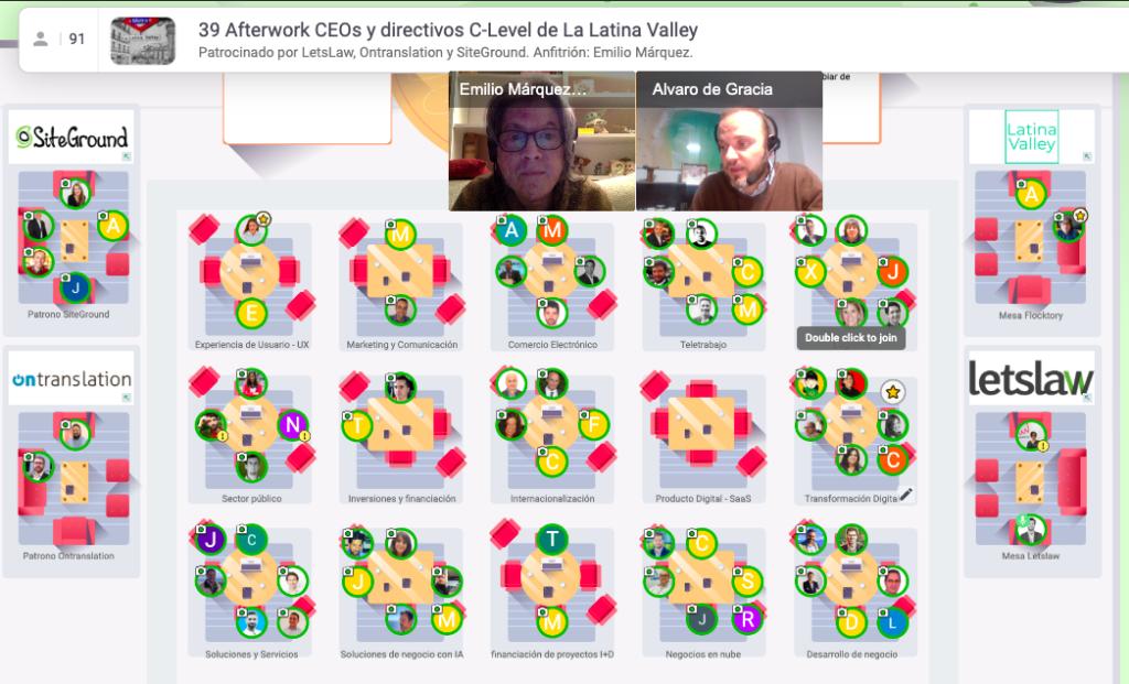 11 Noviembre 2020: 39º Afterwork online entre CEOs y directivos C-Level. Captura de pantalla 2020 11 11 a las 18