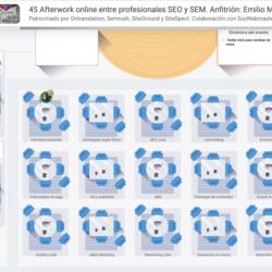 7 Abril 2021: 45º Afterwork online entre profesionales SEO y SEM Configuracio  n sala virtual 7 Abril 2021 Previa al evento del Afterwork de SEO SEM 250x250