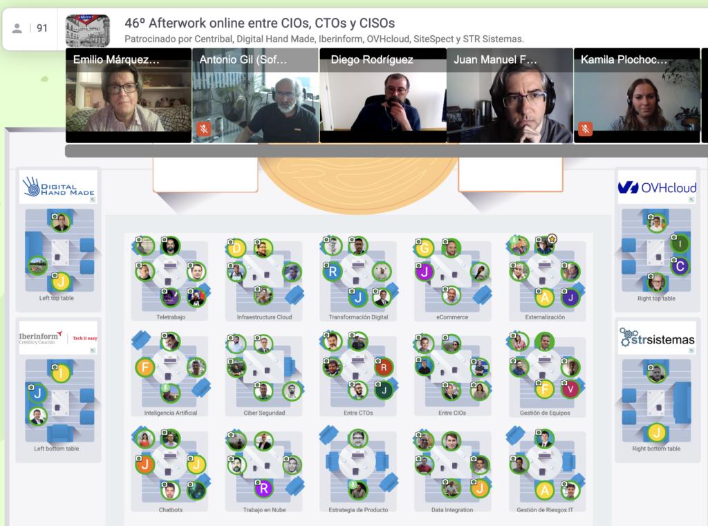 28 Abril 2021: 46º Afterwork online entre CIOs, CTOs y CISOs Captura de pantalla 2021 04 28 a las 18